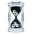 hourglass with eyeballs halloween sticker print vector image