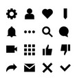 interface glyph icons for web and mobile app vector image vector image