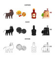 isolated object and historic symbol set and vector image vector image