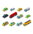 Isometric Car Icons Set vector image vector image