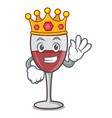 king wine mascot cartoon style vector image vector image