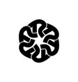 letter r symbol vector image vector image