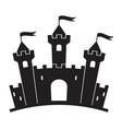 medieval castle building cartoon vector image
