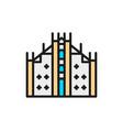 milan cathedral landmark milan italy flat vector image vector image