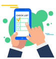 mobile check list vector image