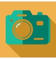 Modern flat design concept icon photo camera vector image vector image