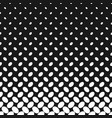 monochrome geometrical halftone ellipse pattern vector image vector image