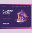 online pharmacy conceptual composition with vector image