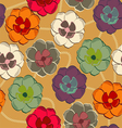 Pattern with floral background vector image vector image