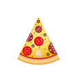 pizza slice on white background vector image vector image