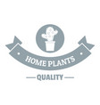 quality home cactus logo simple gray style vector image vector image