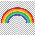 realistic rainbow on transparent background abstr vector image vector image