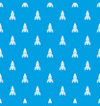rocket spacecraft pattern seamless blue vector image vector image