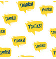 Seamless pattern speech bubbles with phrase thanks