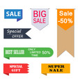 set of price-tags vector image vector image