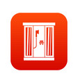 shower cabin icon digital red vector image vector image