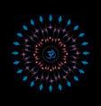 shri yantra or sri chakra vector image vector image