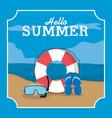 summer frame template vector image