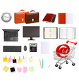 super mega set business elements vector image