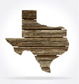 texas tx state map shape rustic old wood vector image