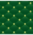 Vintage green leather pattern vector image vector image