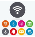 Wifi and Bluetooth icon Wireless mobile network vector image vector image