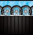 winter tire vector image vector image