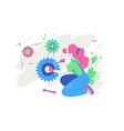 woman repair something with tool vector image vector image