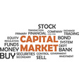 word cloud capital market vector image vector image