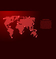 world map from 3d red cubes isometric abstract