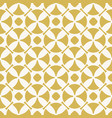 yellow retro vintage geometric seamless pattern vector image