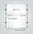 abstract business name card corporate geometric vector image vector image
