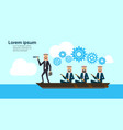 arab business group on boat with team leader vector image vector image