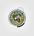 bass fishing tournament logo design monster fish vector image