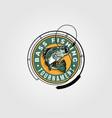 bass fishing tournament logo design monster fish vector image vector image