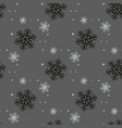 black seamless christmas pattern with different vector image
