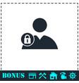 block user icon flat vector image vector image