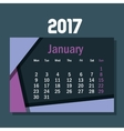 calendar january 2017 template icon vector image vector image