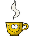cartoon doodle merry cup coffee vector image
