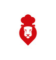 chef cook lion head icon vector image