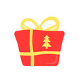 christmas present flat abstract element vector image