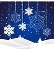 christmas snowy landscape vector image