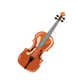 classic violin isolated vector image vector image