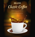 coffee advertising cup with hot drinks and vector image