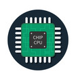 cpu chip icon microchip semiconductor icon vector image