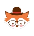 cute fox character icon vector image
