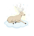 deer cartoon designcute bambi animal merry vector image vector image
