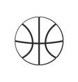 doodle basketball ball vector image