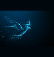 eagle flying swoop from lines triangles vector image