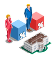 Election Infographic Presidential Pools Isometric vector image vector image